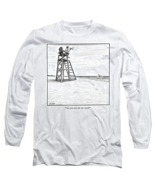 Can You Describe The Shark Long Sleeve T-Shirt