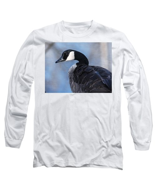 Canada Goose Preening 3 Long Sleeve T-Shirt by Edward Peterson
