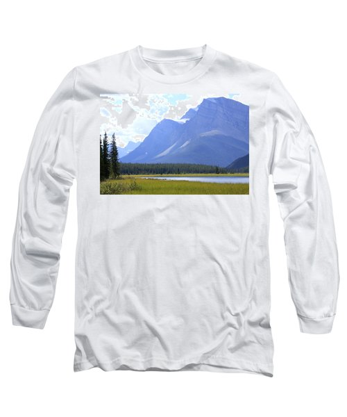 Canadian Mountains Long Sleeve T-Shirt by Catherine Alfidi