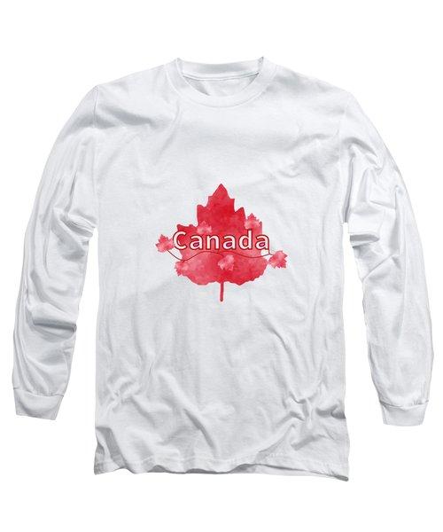 Canada Proud Long Sleeve T-Shirt by Kathleen Sartoris