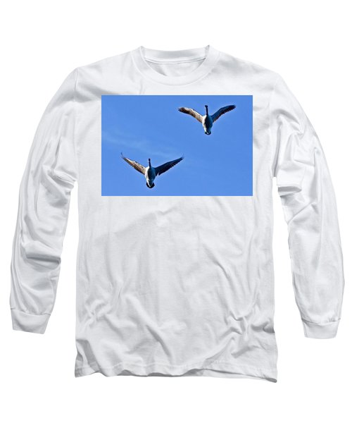Long Sleeve T-Shirt featuring the photograph Canadian Geese 1644 by Michael Peychich