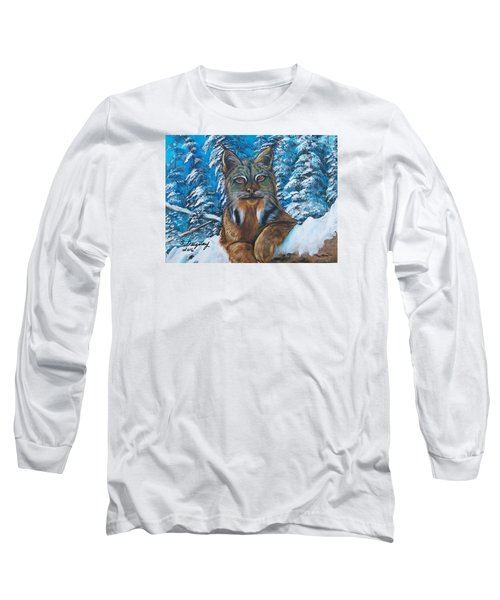 Canadian Lynx Long Sleeve T-Shirt by Sharon Duguay