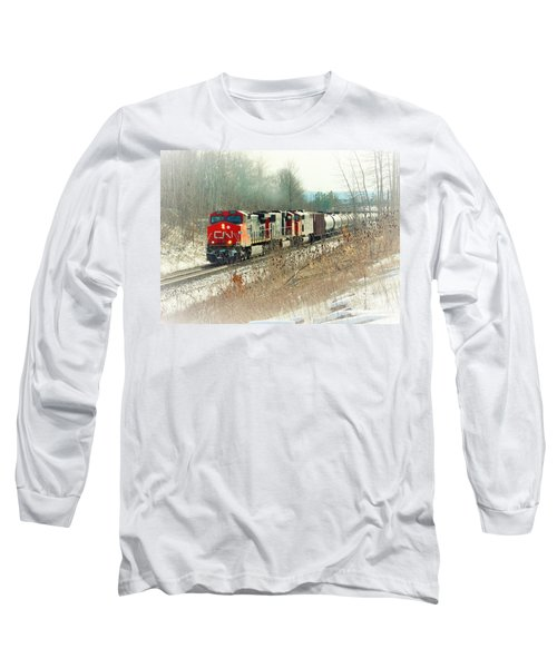 Canadian National Railway Vignette Long Sleeve T-Shirt