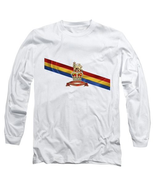 Canadian Provost Corps - C Pro C Badge Over Unit Colours Long Sleeve T-Shirt by Serge Averbukh