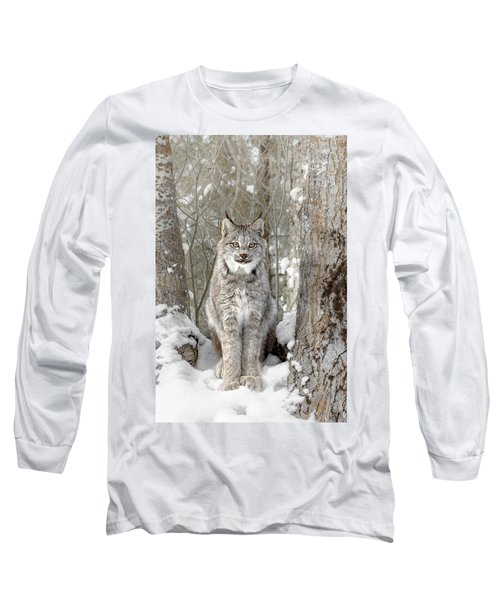 Canadian Wilderness Lynx Long Sleeve T-Shirt by Wes and Dotty Weber