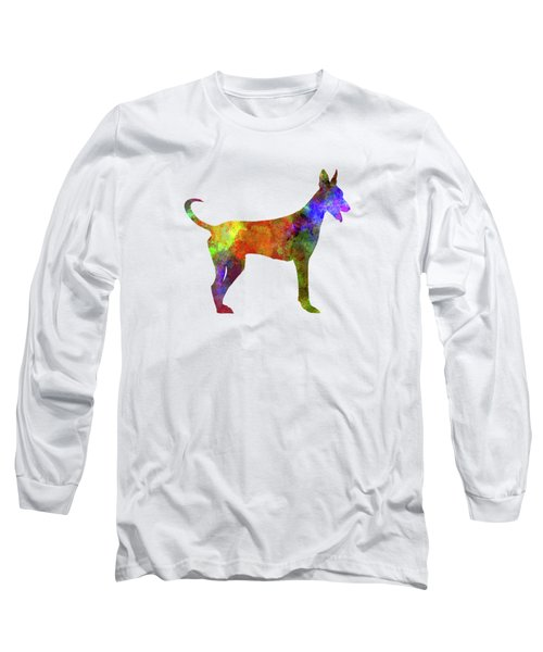 Canarian Warren Hound In Watercolor Long Sleeve T-Shirt by Pablo Romero