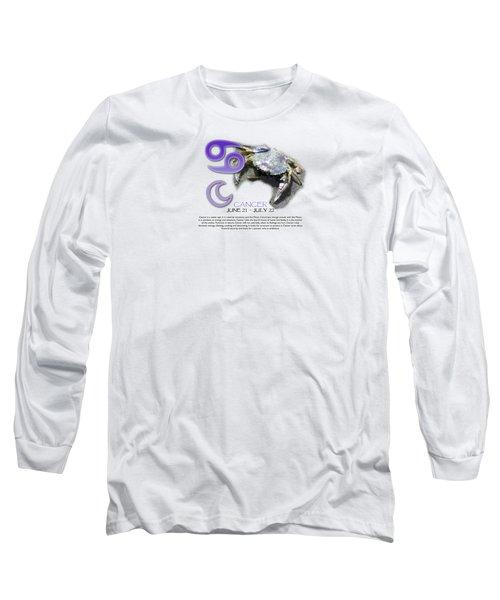 Cancer Sun Sign Long Sleeve T-Shirt
