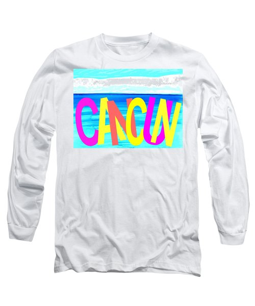 Cancun Poster T-shirt Long Sleeve T-Shirt