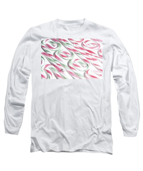 Candy Cane Swirls Long Sleeve T-Shirt