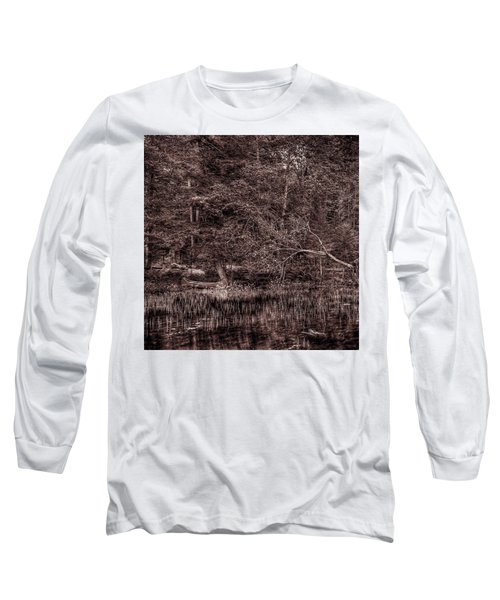 Canoe In The Adirondacks Long Sleeve T-Shirt by David Patterson