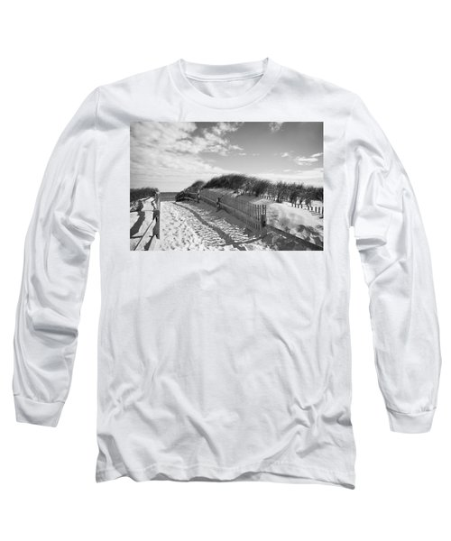 Cape Cod Beach Entry Long Sleeve T-Shirt by Mircea Costina Photography