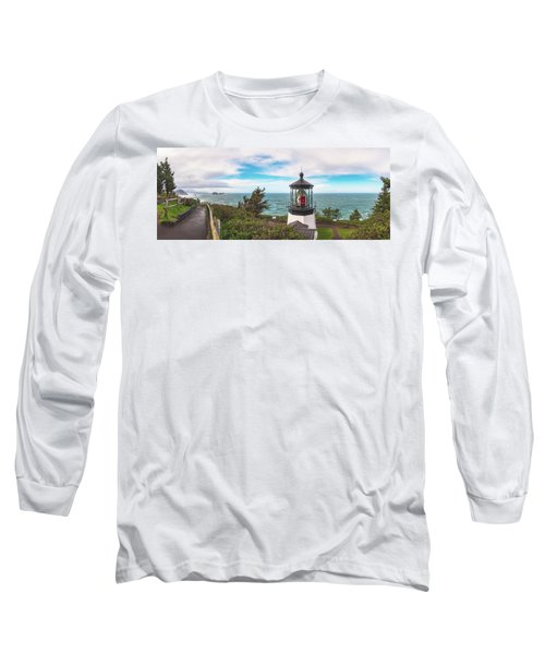 Long Sleeve T-Shirt featuring the photograph Cape Meares Bright by Darren White