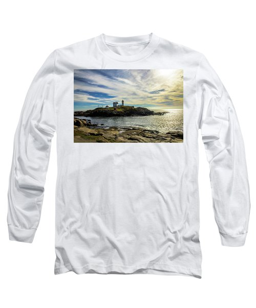 Cape Neddick Lighthouse Long Sleeve T-Shirt by Sherman Perry