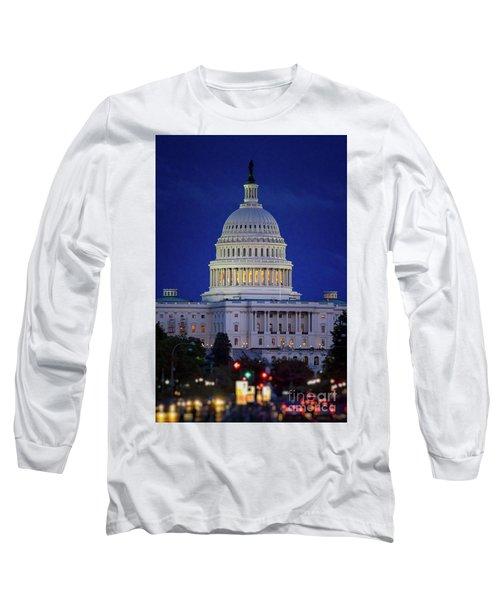 Capitol At Dusk Long Sleeve T-Shirt