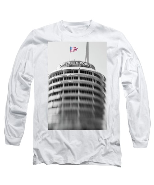 Long Sleeve T-Shirt featuring the photograph Capitol Records Building 18 by Micah May