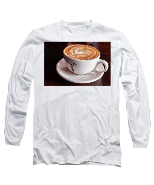 Cappuccino Long Sleeve T-Shirt by Anthony Citro