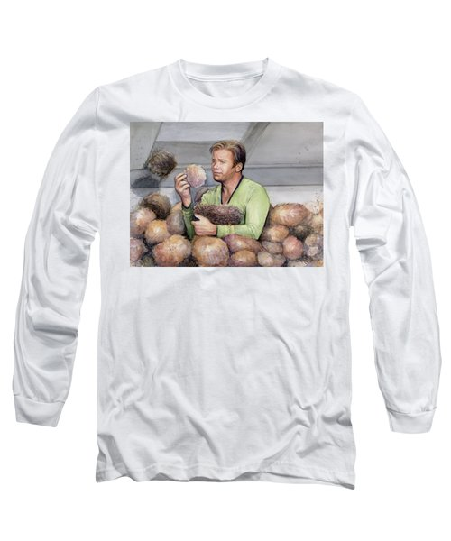 Captain Kirk And Tribbles Long Sleeve T-Shirt