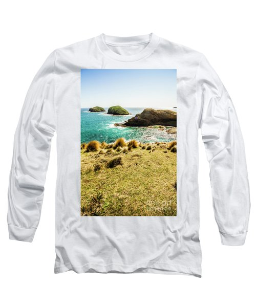 Captivating Coastal Cliff Long Sleeve T-Shirt
