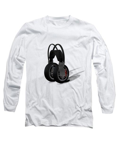 Car Stereo Long Sleeve T-Shirt by Keshava Shukla