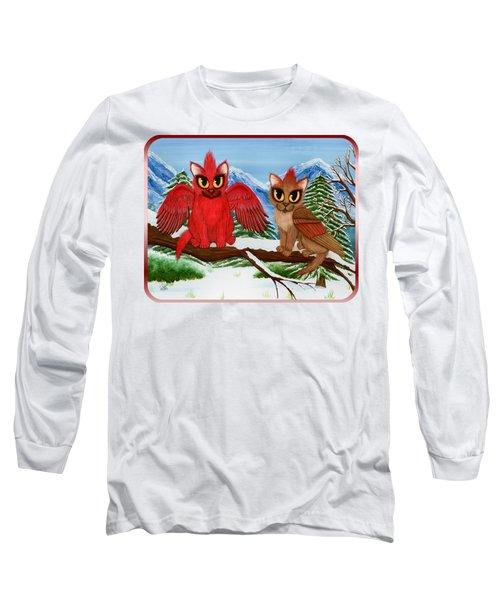 Cardinal Cats Long Sleeve T-Shirt