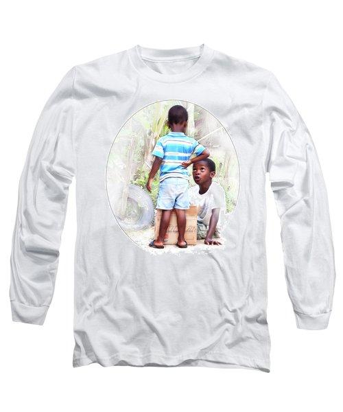 Caribbean Kids Illustration Long Sleeve T-Shirt