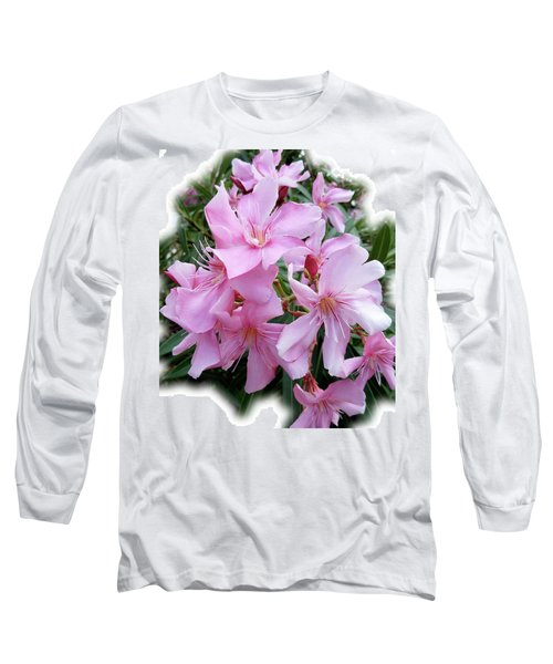 Long Sleeve T-Shirt featuring the photograph Caribbean Oleander by Marie Hicks