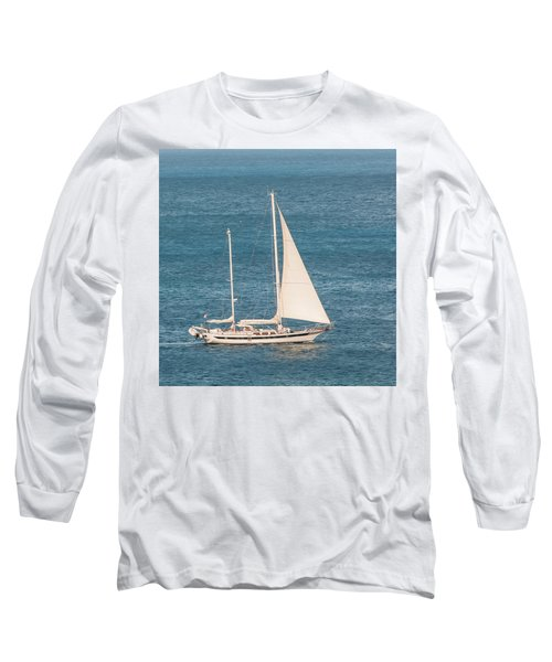 Long Sleeve T-Shirt featuring the photograph Caribbean Scooner by Gary Slawsky