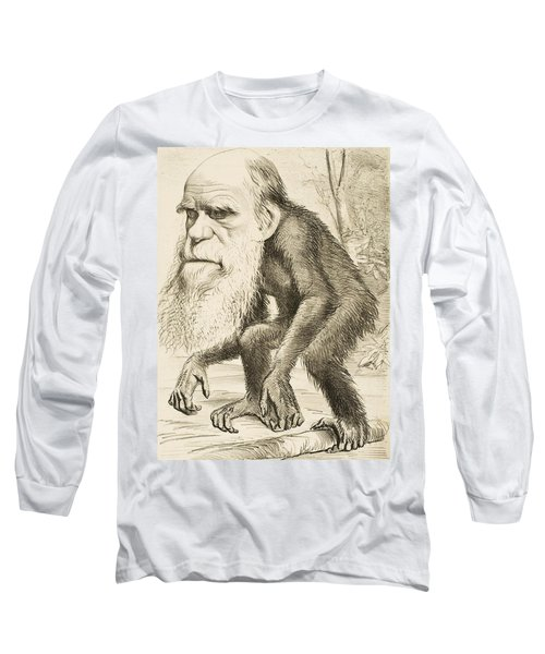 Caricature Of Charles Darwin Long Sleeve T-Shirt