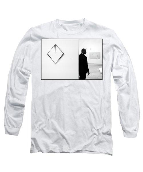 Carmen Herrera At The Whitney 1 Bw Long Sleeve T-Shirt