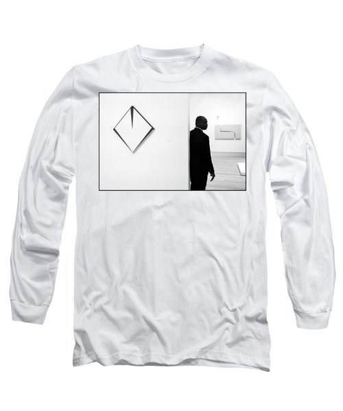 Carmen Herrera At The Whitney 1 Bw Long Sleeve T-Shirt