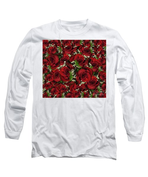 Long Sleeve T-Shirt featuring the photograph Carmine Roses by Rockin Docks Deluxephotos