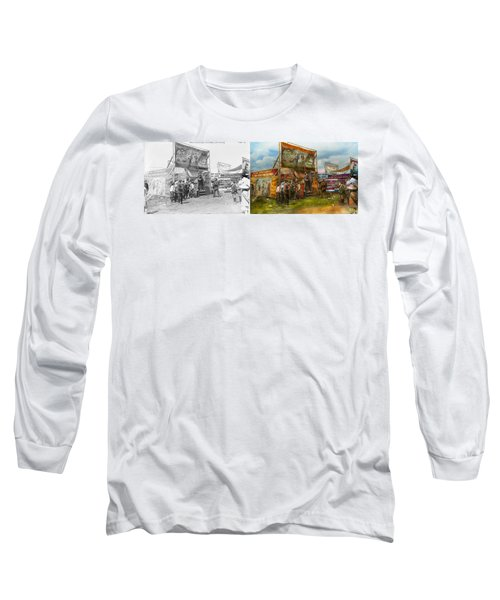 Carnival - Wild Rose And Rattlesnake Joe 1920 - Side By Side Long Sleeve T-Shirt by Mike Savad