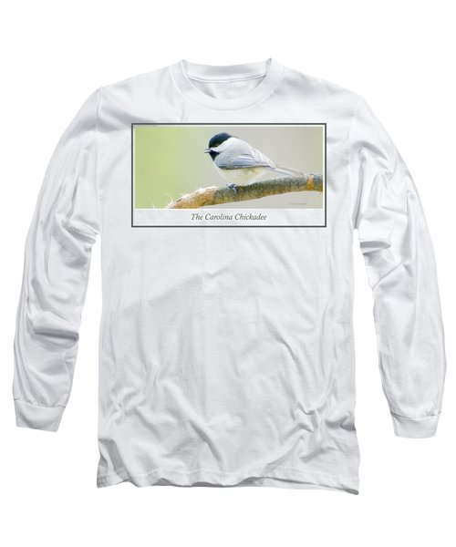 Carolina Chickadee, Animal Portrait Long Sleeve T-Shirt