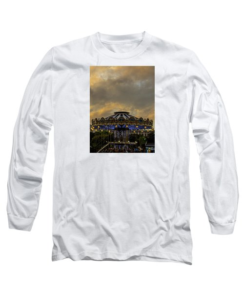 Carousel By The Eiffel Tower Long Sleeve T-Shirt by Jean Haynes