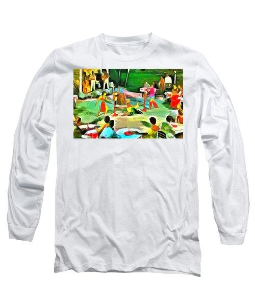Carribean Scenes - Calypso And Limbo Long Sleeve T-Shirt