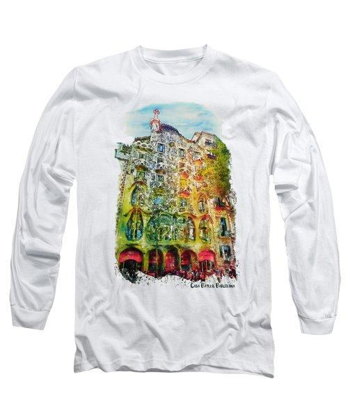 Casa Batllo Barcelona Long Sleeve T-Shirt