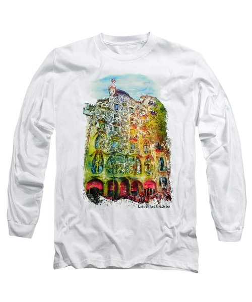 Casa Batllo Barcelona Long Sleeve T-Shirt