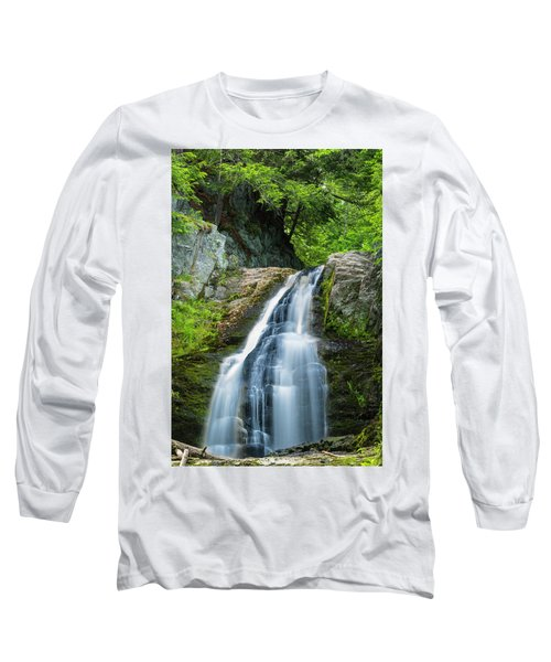 Long Sleeve T-Shirt featuring the photograph Cascade Falls In South Portland In Maine by Ranjay Mitra