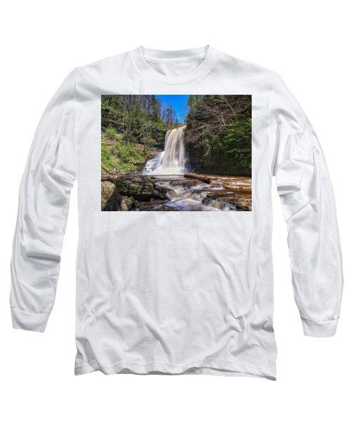 Cascade Falls In Spring Long Sleeve T-Shirt