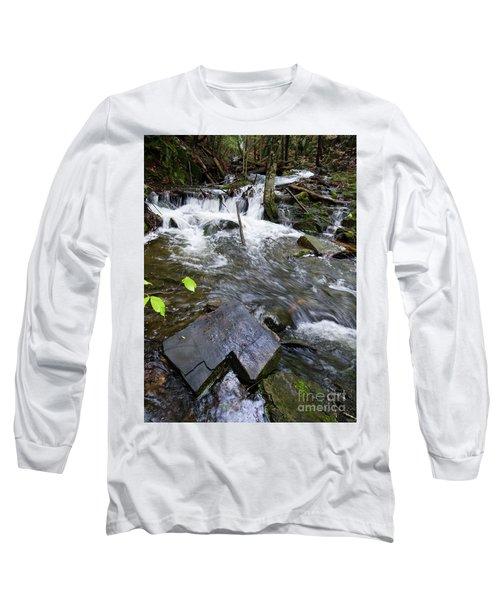 Cascade Falls Stream, Farmington, Maine  -30329 Long Sleeve T-Shirt