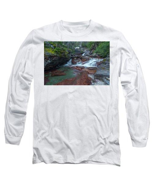 Long Sleeve T-Shirt featuring the photograph Cascades by Gary Lengyel