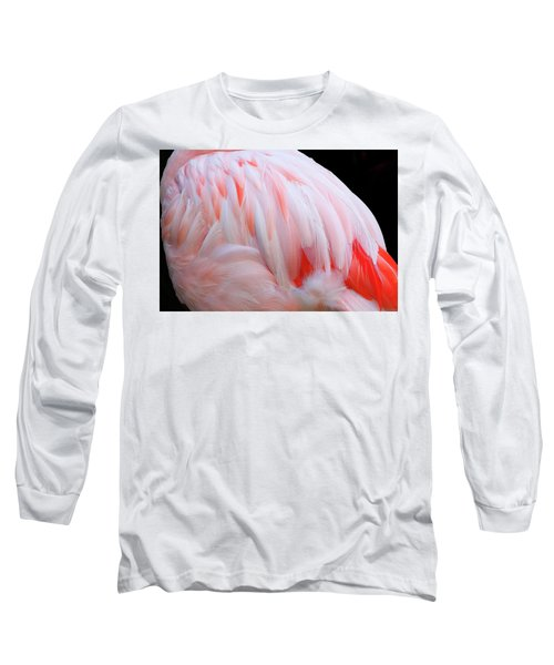 Long Sleeve T-Shirt featuring the photograph Cascading Feathers by Elvira Butler
