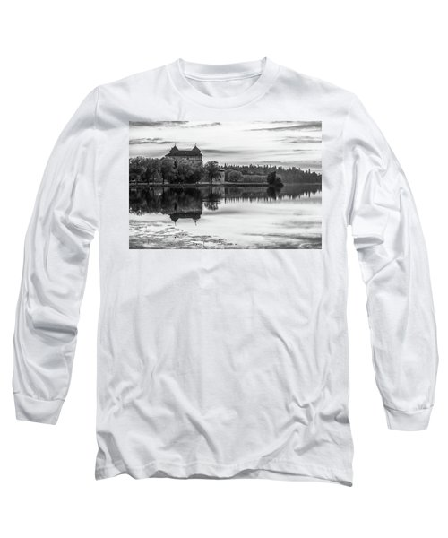 Castle In Black And White Long Sleeve T-Shirt by Teemu Tretjakov