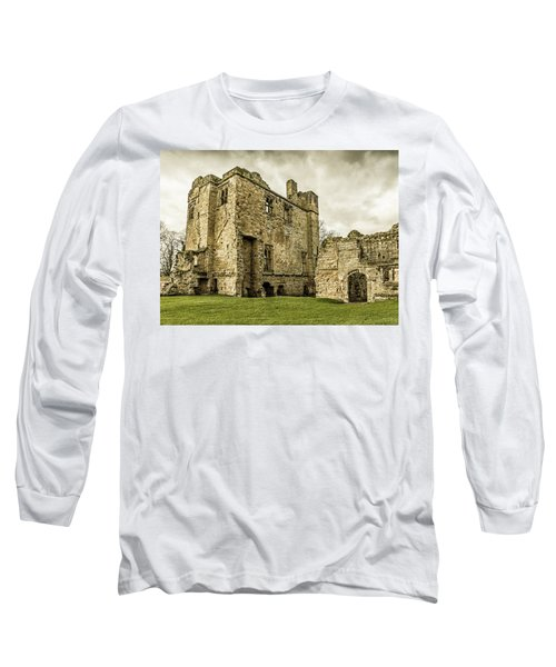 Long Sleeve T-Shirt featuring the photograph Castle Of Ashby by Nick Bywater