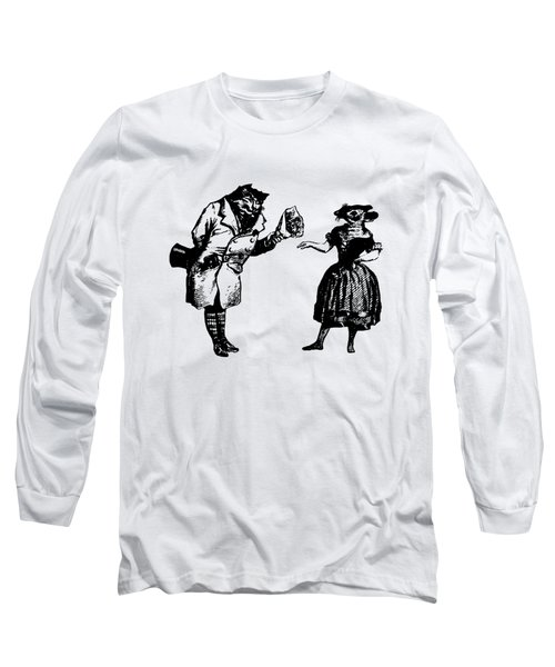 Cat And Mouse Grandville Transparent Background Long Sleeve T-Shirt