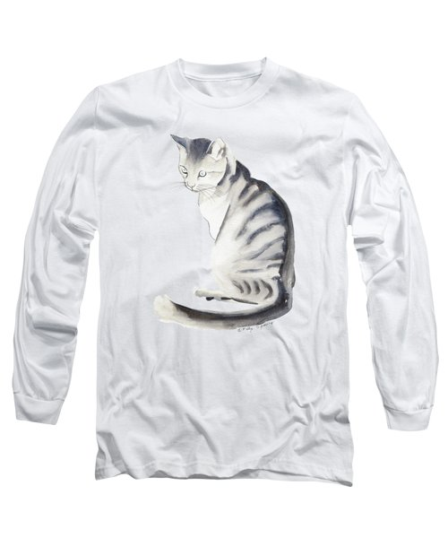 Cat Art I Long Sleeve T-Shirt by Melly Terpening