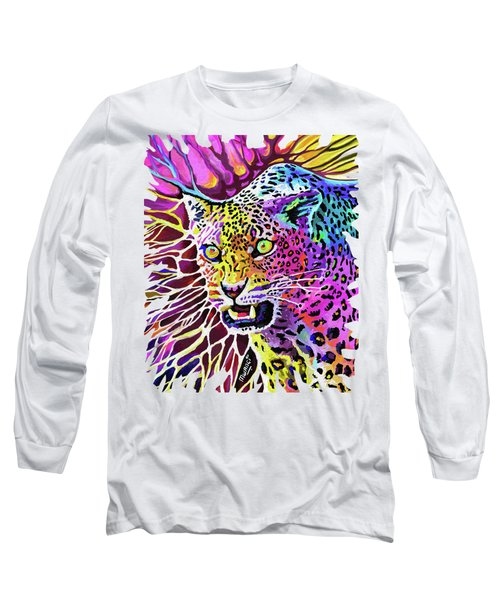 Cat Beauty Long Sleeve T-Shirt by Anthony Mwangi