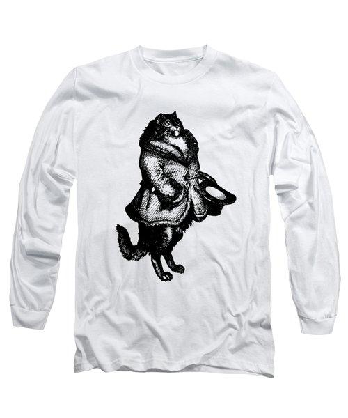 Cat Caller Grandville Transparent Background Long Sleeve T-Shirt
