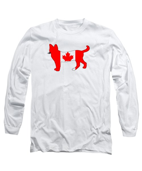 Cat Canada Long Sleeve T-Shirt by Mordax Furittus