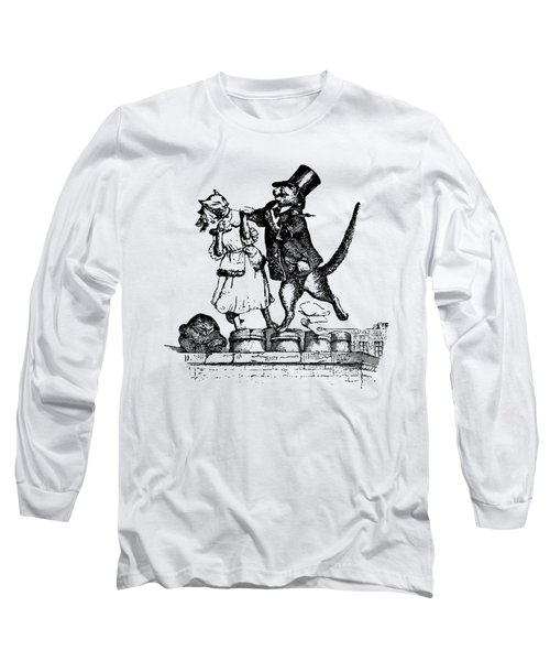 Cat Love Grandville Transparent Background Long Sleeve T-Shirt by Barbara St Jean